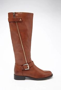 Knee-High Faux Leather Boots | Forever 21 #stepitup