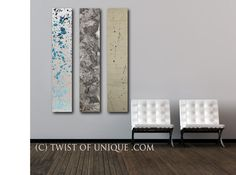 Oversized Abstract Painting / CUSTOM 3 set by TwistOfUnique