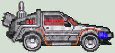 DeLorean Back to the Future II perler bead sprite
