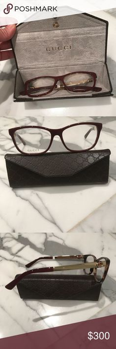 6a5e986f2e9 New Gucci Eyeglasses w/Case Cloth Brand new. The front of the frames are