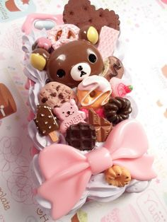Rilakkuma Kawaii Sweets Decoden Deco Case for by Lucifurious, $42.00