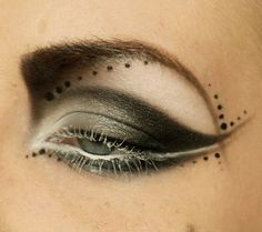 Creative and artistic, with white mascara.