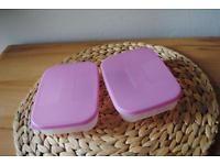 2 Tupperware Brotdosen 230 ml rosa wie neu