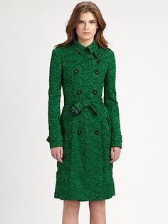 Burberry Prorsum - Lace Trenchcoat - Saks.com