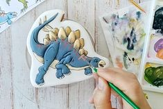 Dinosaurs | Etsy Etsy Handmade, Handmade Crafts, Handmade Ideas, Dinosaur Cookies, Cookie Tutorials, Cookie Decorating, Craft Supplies, Christmas Gifts, Stationery