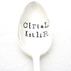 Custom Cereal Killer spoon. Original Milk by MilkandHoneyLuxuries