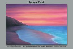 Beach decor, Seascape sunset painting by Denise Cunniff - ArtFromDenise.com. View more info at https://www.etsy.com/listing/252444241