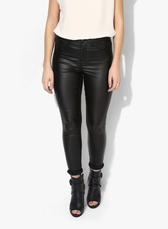 Buy Dorothy Perkins Black Coated 'Frankie' Jeans for Women Online India, Best  Prices