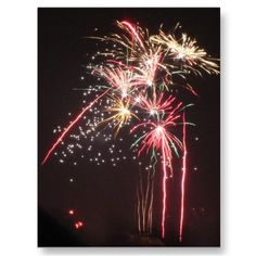 Fabulous Fireworks Post Cards by stineshop