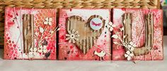 Video-Tutorial: Valentines Mini Canvas Set. By Andrea Gomoll