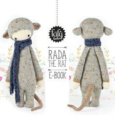 "HÄKELANLEITUNG Puppe ""Rada die Ratte"""