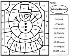 Color by Sight Words Winter!and Color by Numbers Winter! 40 Color by Sight Words and 40 Math Color by Number with Answer Keys all with a Winter Theme! Great way to practice high frequency words and basic facts! Multiplication Facts Practice, Subtraction Activities, Multiplication And Division, Math Activities, Addition Facts, Addition And Subtraction, Sight Word Coloring, Engage In Learning, Color By Numbers