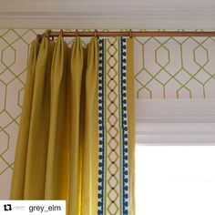 Browse through our extensive blinds and shades, drapery and curtains, drapery hardware, and wallpaper projects in our portfolio. Drapes And Blinds, Drapes Curtains, Window Blinds, Curtain Trim, Curtain Rods, Cortinas Boho, Drapery Designs, Drapery Ideas, Curtain Ideas