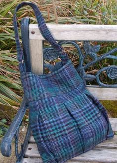 How to Upcycle a Tweed Skirt into a Handbag - Free Sewing Tutorial from Vicky Myers @ PatternPile.com