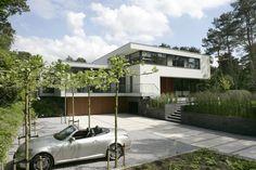 moderne architectuur, stucwerk villa, maas architecten