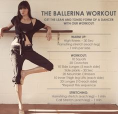workout routine for dancers Ballerina workout Ballerina Workout, Ballerina Body, Ballerina Diet, Ballet Body, Ballerina Moves, Ballet Diet, Ballet Fitness, Ballet Barre Workout, Yoga Training