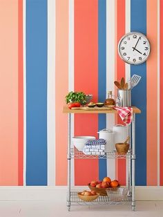 Painting Multicolored Stripes on a Wall HGTV Painting Stripes On Walls, Diy Wall Painting, Wall Paint Stripes, Painting Bedrooms, Elements Of Design, Beautiful Wall, Paint Designs, Wall Design, Decorating Your Home