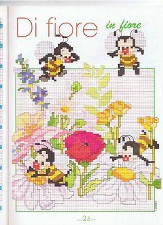 animali api su fiori
