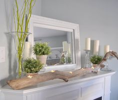 Gorgeous Spring Mantels {decorate mantel} - Home Stories A to Z