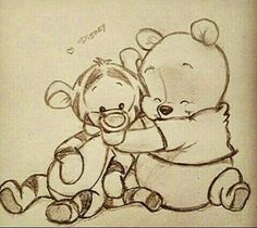Image via We Heart It https://weheartit.com/entry/153176717 #disney #drawing #tumblr #tigger #winniethepooh