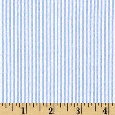 Kaufman Classic Seersucker Stripe Light Blue & White  $7.48 per yard