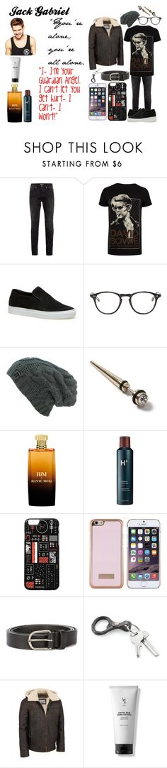 """""""Jack Gabriel"""" by fergusroderickmacleod ❤ liked on Polyvore featuring Topman, River Island, Lacoste, Garrett Leight, Hanae Mori, Harry's, Ted Baker, Dsquared2, Wilsons Leather and V76 by Vaughn"""