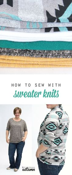 how to sew with sweater knits - lots of great tips and tricks for sewing with sweater fabric and a fabric giveaway! #sp