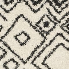 Safavieh Belize Shag Ivory/ Charcoal Rug (5'1 x 7'6)
