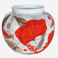 Vase boule Coquelicots