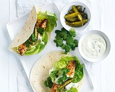 Lime and chilli fish tacos, from Donna Hay's Fresh and Light book, are quick and easy to make for a fuss free dinner
