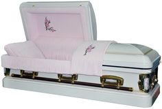 Caskets for Sale at Discount prices. Caskets For Sale, Funeral Caskets, Buying Wholesale, Pink Velvet, Stuff To Buy, Steel, Interior, Indoor