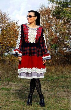 Купить Платье БОХО осеннее - разноцветный, платье бохо, стиль бохо, Платье осеннее