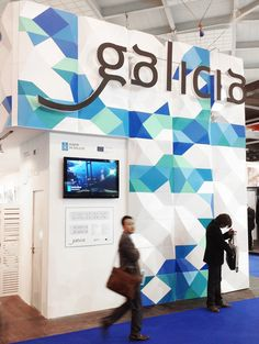 Galician Government official stand made with Termoset panels. Exhibition Stand Design, Brussels, Exhibitions, Seafood, Interiors, 3d, Sea Food, Exhibition Stall Design, Decoration Home