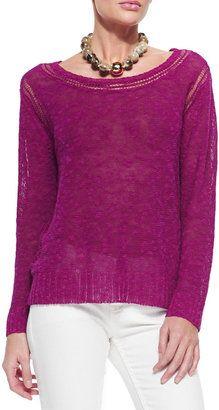Eileen Fisher Linen/Cotton Grain Top, Women's #1010ParkPlace http://www.1010parkplace.com/plus