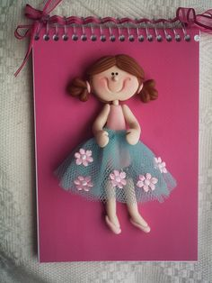 Love the notebook cover with PC, along with ribbon tie! Polymer Clay Christmas, Polymer Clay Crafts, Polymer Clay Creations, Polymer Journal, Polymer Project, Cold Porcelain Flowers, Kids Clay, Clay Design, Fondant Figures
