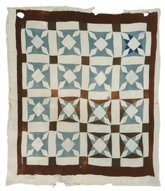 """Magdalene Wilson - """"North Star"""" variation - 1930s Cotton and synthetic fabric 84 x 76 inches"""