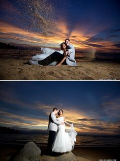 Amazing sunset! | Zephyr Cove Lake Tahoe Wedding | Jeramie Lu Photography