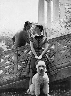 Mary Jane Russell, photo by Tom Palumbo, Harper's Bazaar, July 1954 | flickr skorver1