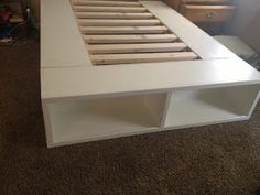 DIY Storage Bed: I want to be able to fit standard size storage tubs in the middle part