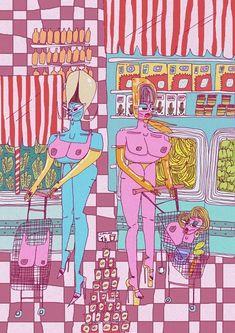 Juno Birch makes an art out of taking the piss Kids Prints, Art Prints, Funny Animal Quotes, Alien Art, Black Artwork, Arte Horror, Hippie Art, Animal Tattoos, Aesthetic Art