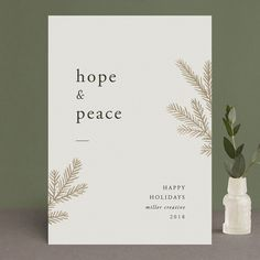 """Hope Shine"" - Foil-pressed Holiday Cards in Cream by Amy Kross. Holiday Logo, Corporate Holiday Cards, Holiday Greeting Cards, Xmas Cards, Modern Christmas Cards, Christmas Graphics, Website Illustration, Christmas Graphic Design, Christmas Stationery"