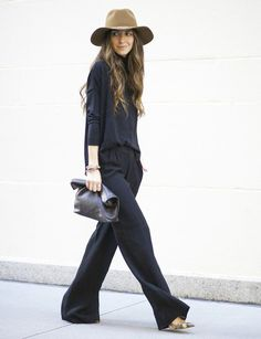 casual winter outfit with cowboy hat