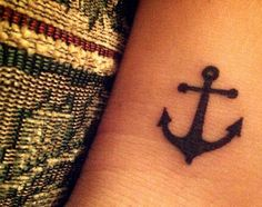 Ankle anchor tattoo!!