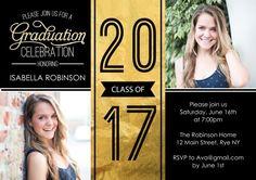 Grad 2017 Gold Invitation