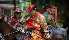 Michael Horan captured this image of mounted archers during a competition known as Yabusame in Nikko, Japan.
