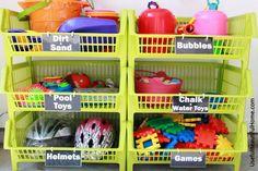 Organizar los juguetes de exterior