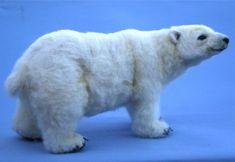 2013 TOBY премии Альпака Игла Войлочных Artic Polar Bear от SteviT