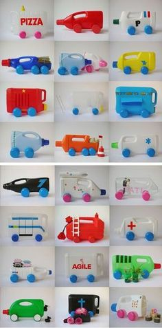 14 Easy DIY Plastic Bottle Projects - Vinyl Bottles are something you'll surely see on your residence, some may be new while some may be old. You could be thinking about throwing these away bottles, nevertheless a much better solution is to recycle them. Recycled Toys, Recycled Art Projects, Recycled Crafts, Projects For Kids, Craft Projects, Recycled Materials, Fun Crafts, Diy And Crafts, Crafts For Kids