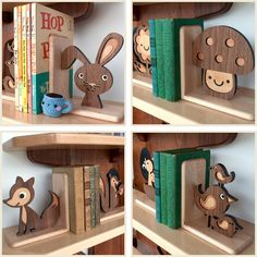 woodland baby nursery book-stands