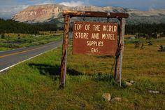 At the top of Beartooth Pass, Montana.
